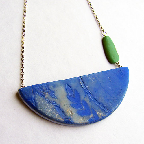 Found: Half Circle Blue and Green Necklace
