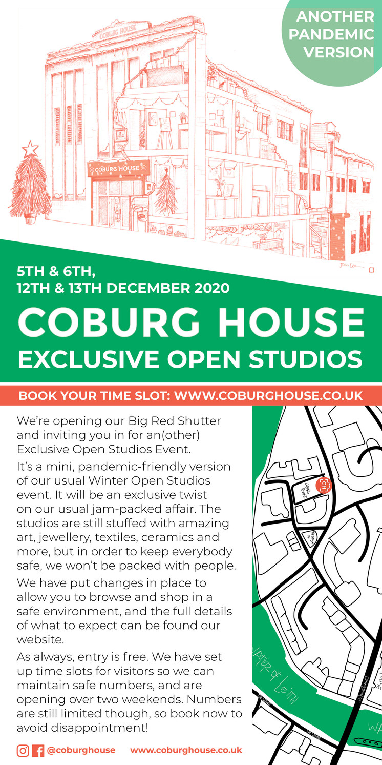 Exclusive Coburg House Winter Open Studios 5th,6th,12th,13th December