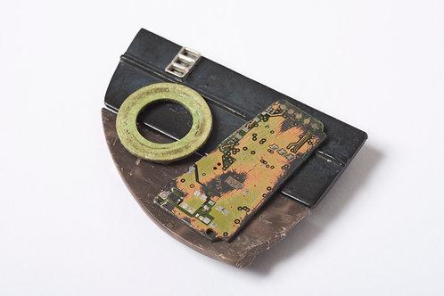 Found: Worn Circuit Brooch