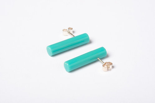 Colour Post Earrings: Turquoise