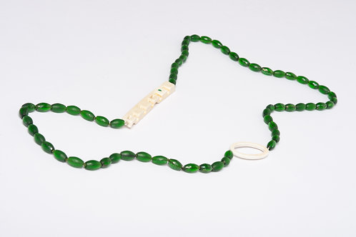 Found: Long Green and White Necklace