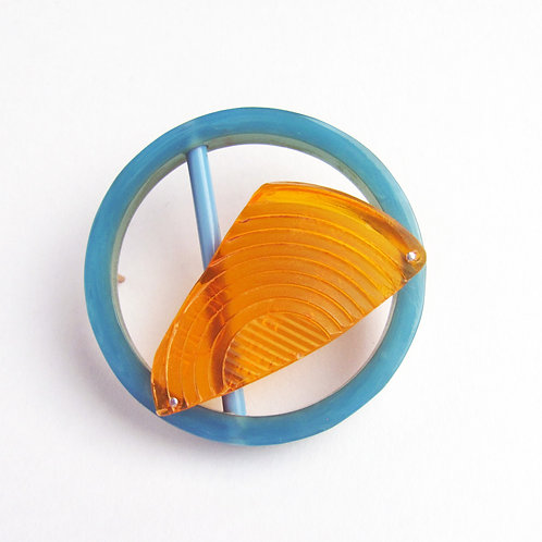 Found: Blue and Indicator Brooch
