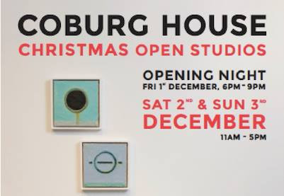 Coming soon...Coburg House Christmas Open Studios