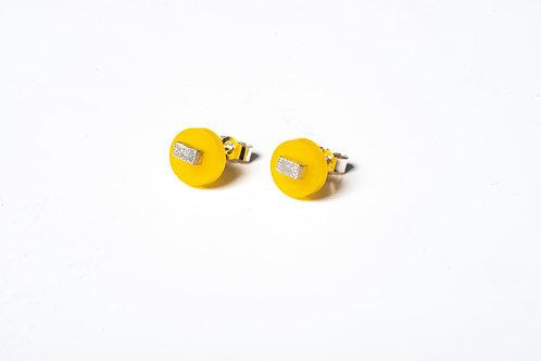Yellow Colour Dot Studs