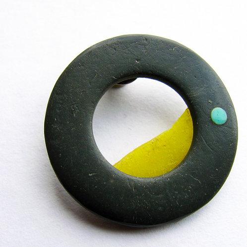Found: Little Round Grey Brooch