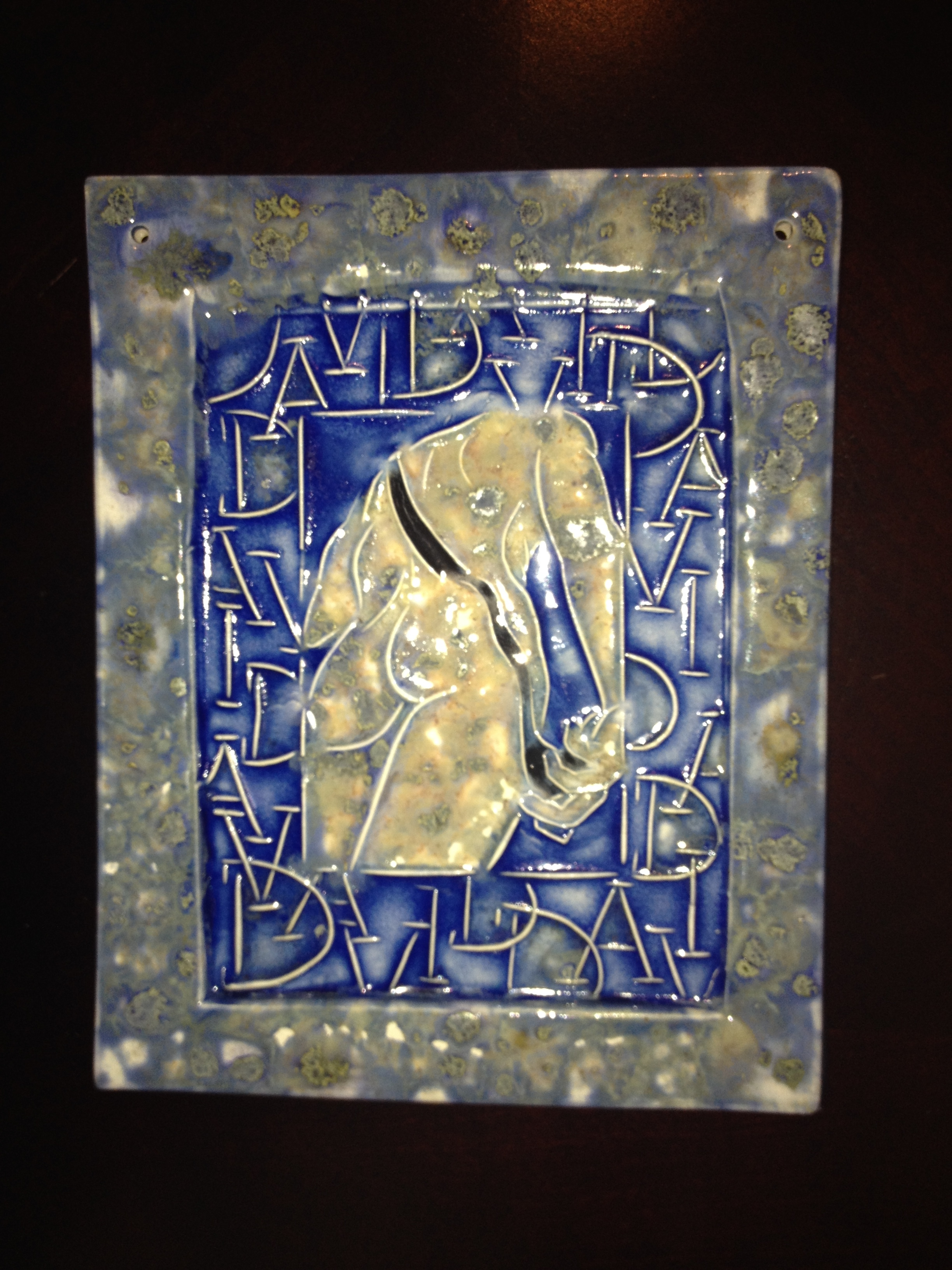 David, ceramic