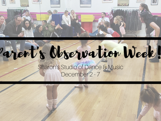 Parent Observation Week is Next Week!
