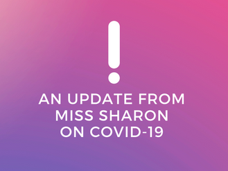 An Update from Miss Sharon on COVID-19: Studio Closed Through March 28