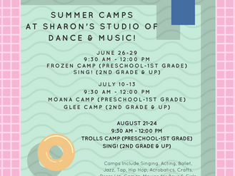 Summer Camps & Classes at Sharon's Studio of Dance & Music