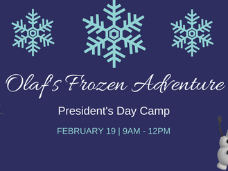 President's Day Camp 2018 - Olaf's Frozen Adventure