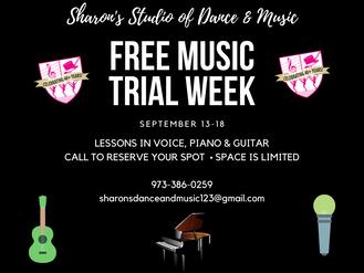 Free Music Lesson Trial Week