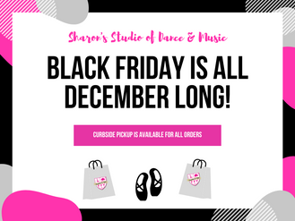 Black Friday is all December Long at Sharon's!