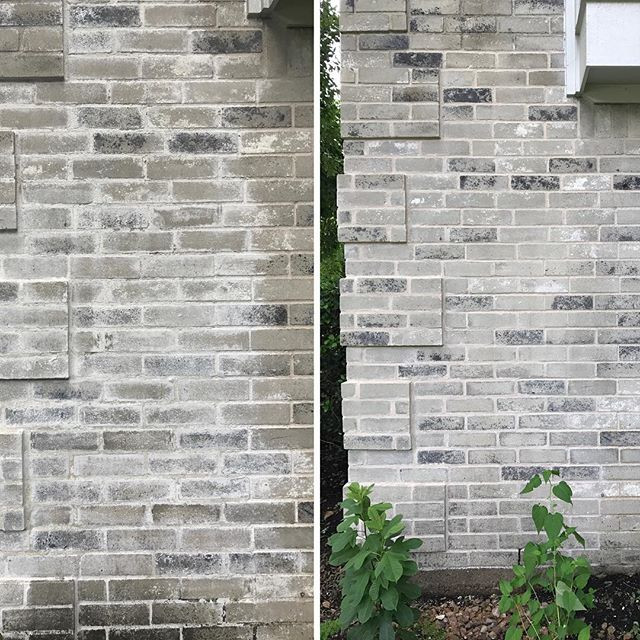 Customer had a previous contractor do a repair and could not properly clean up mortar.jpg