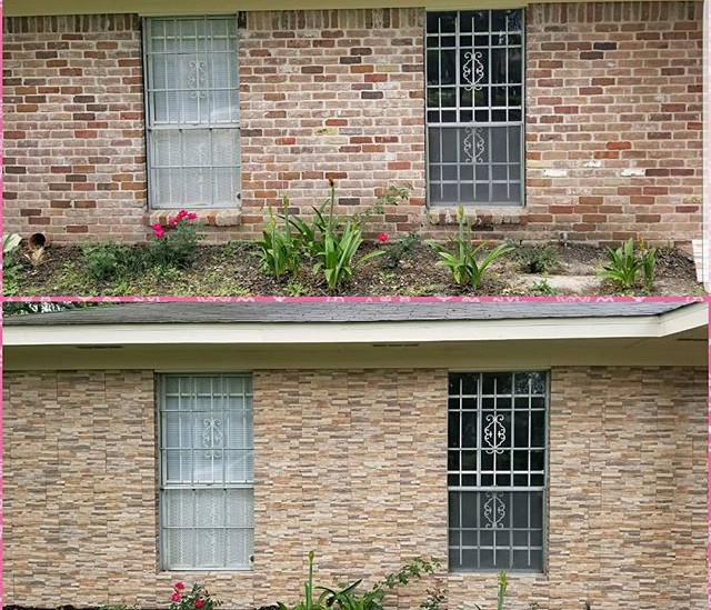 Before and after of a veneer stone install over existing brick.jpg