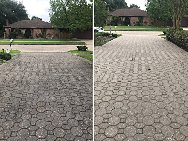 Pressure Wash Before and After