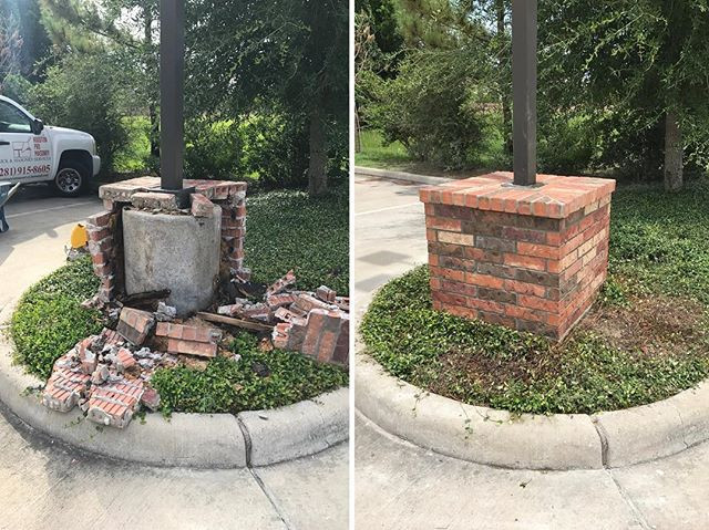 Before and After of a column hit by a vehicle.jpg