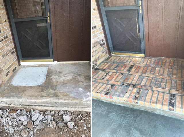 Before and after of a Brick install on patio floor.jpg