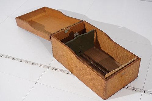 Oak Card File Cabinet by Globe Wernicke