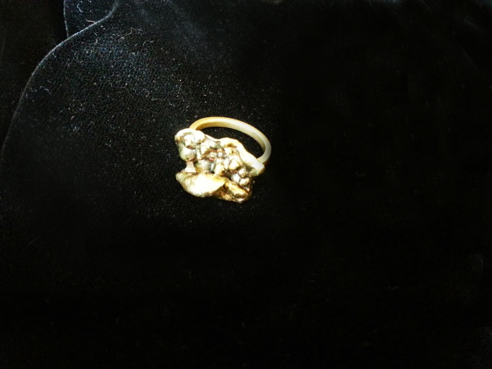 "Ring ""golden splash"""