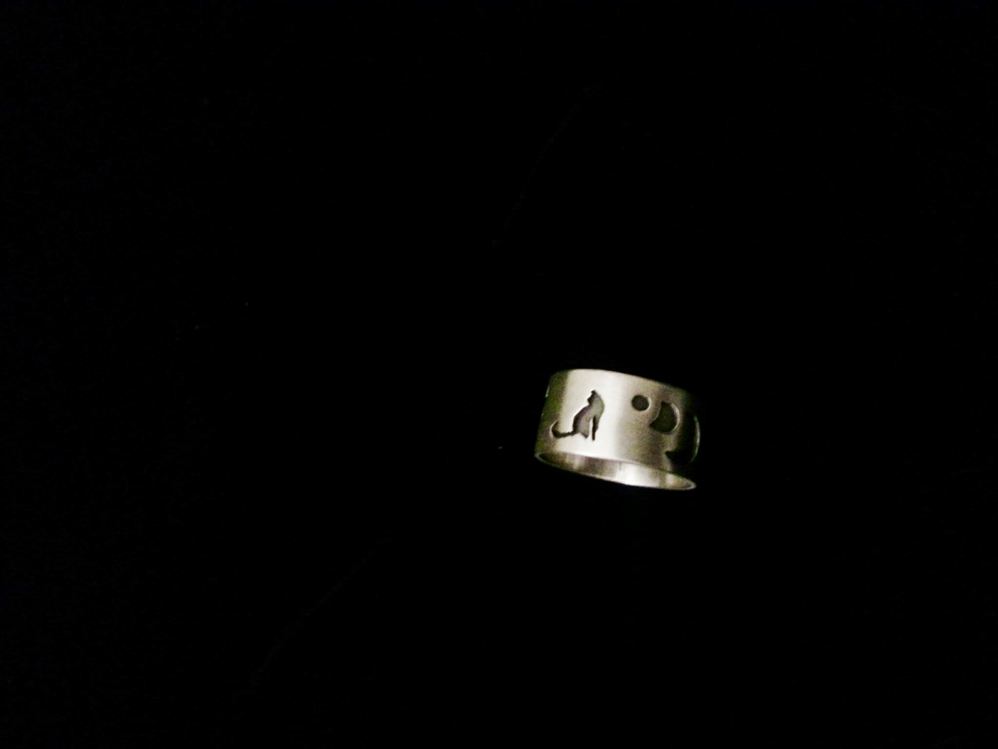 "Ring "" A Cat 'B' , moon, and stars"""