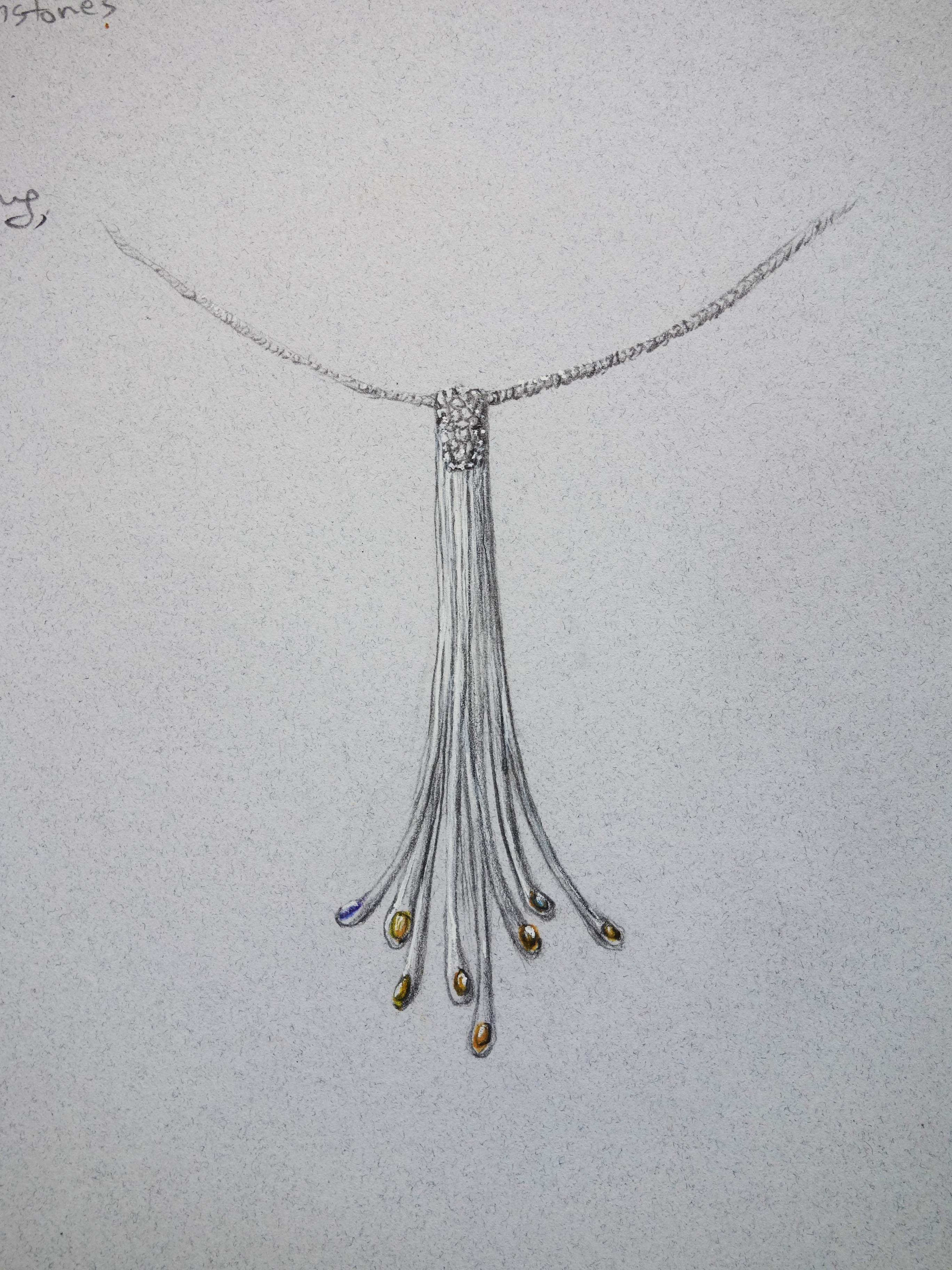 """Necklace """"The flow of the Angle"""""""