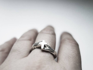 Gorgeous C - Silver Ring, Handmade by J Lim Jewelry