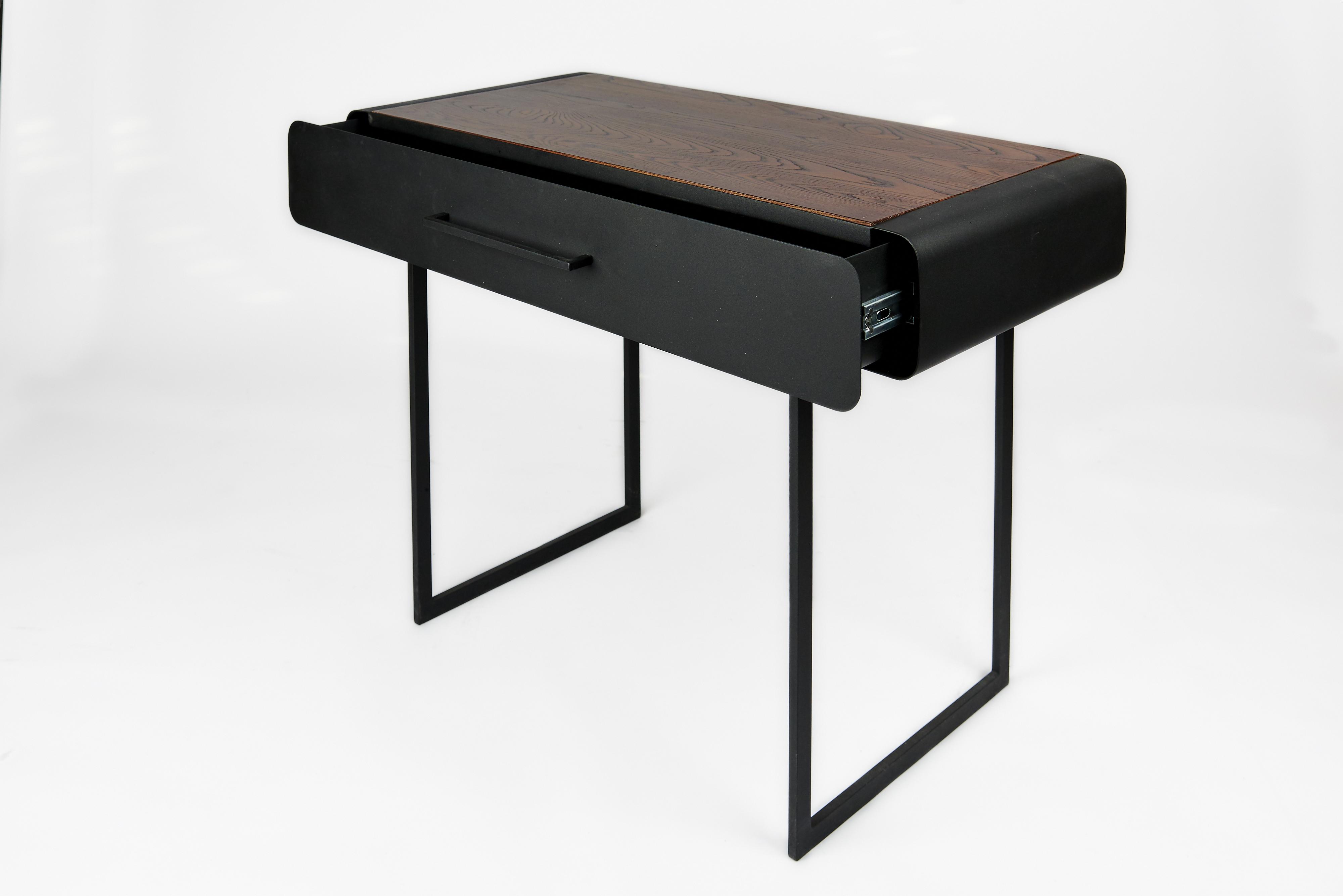 Drafting desk open drawer