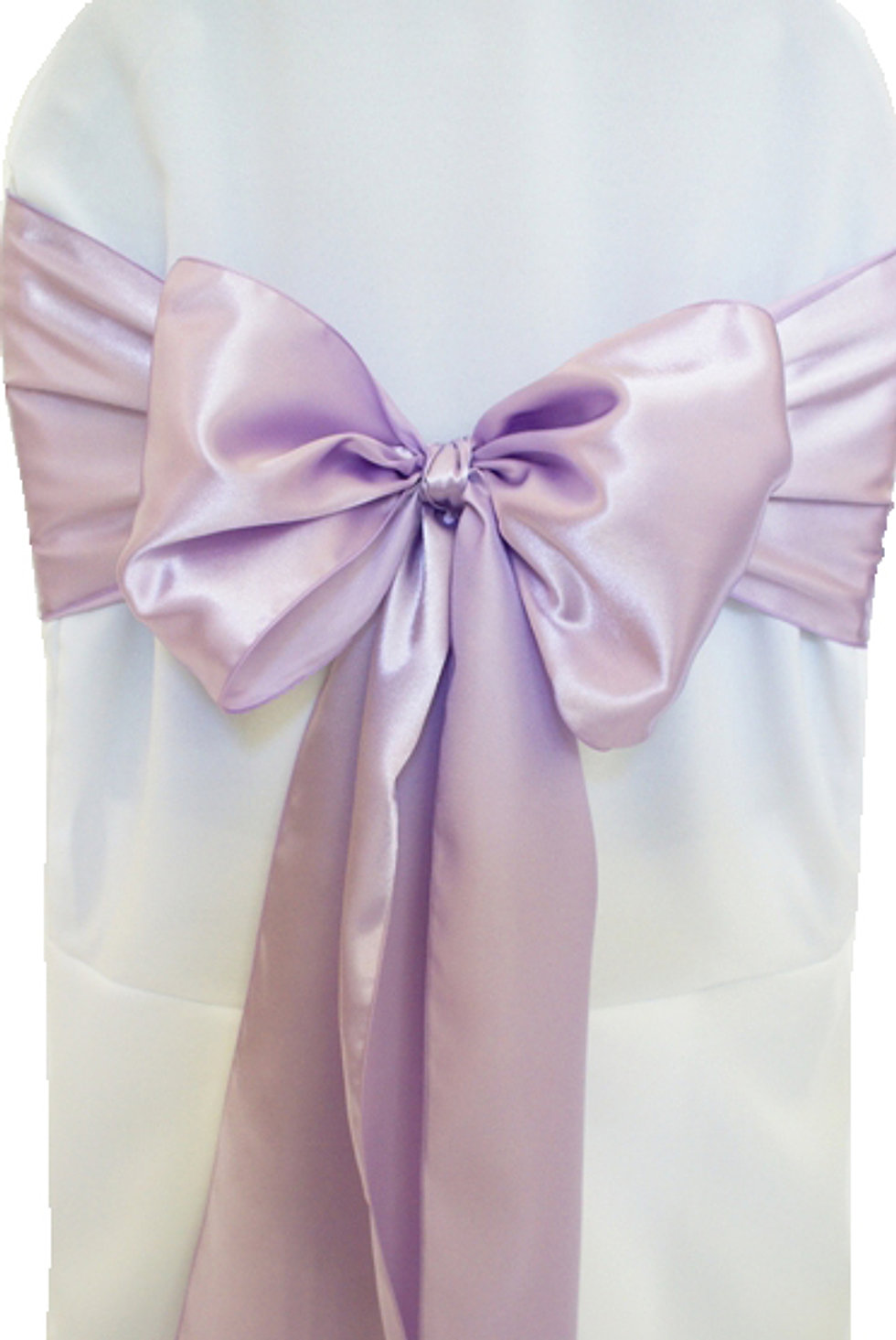Satin Lavender Chair Sash