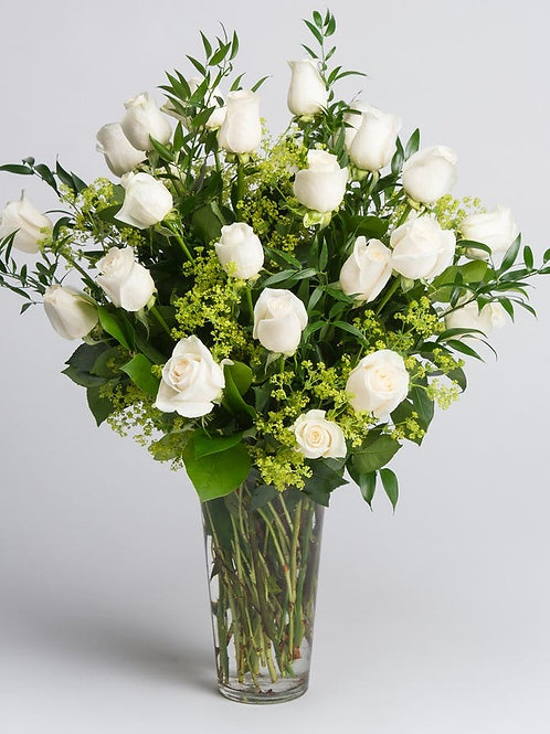 Lux White Roses