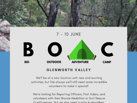Join us for a special June Long Weekend BOAC!