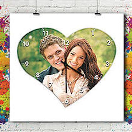 Horloge Coeur Personnalisée