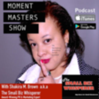 Moment Masters Small Business Podcast - Shakira M. Brown NJ PR Expert