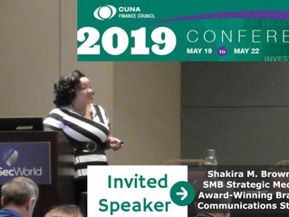 Educating Credit Union Finance Pros on Innovation Communication during Speaker at 25th Annual CUNA F