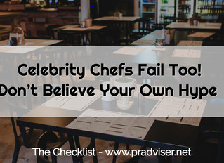 Celebrity Chefs Fail Too! Don't Believe Your Own Hype
