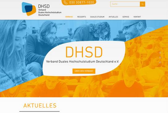 DHSD Website Vorschau