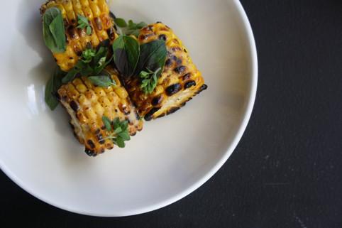 bbq corn, miso butter