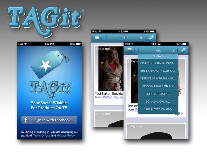 TAGit Screens