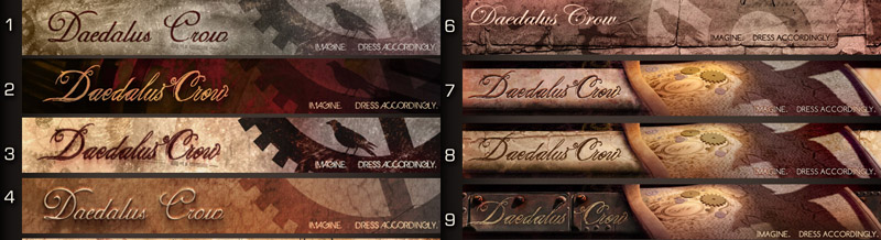Daedalus Crow Storefront Banners