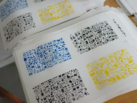 Aki book risograph prints in progress