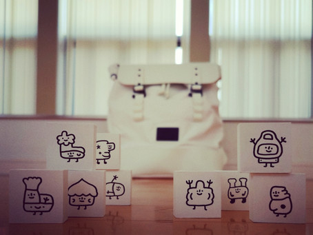 Aki character cubes on Gaston Luga