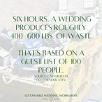 waste produced in weddings