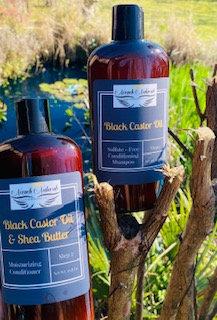 16.8 oz Black Castor Oil Shampoo & Conditioner Set