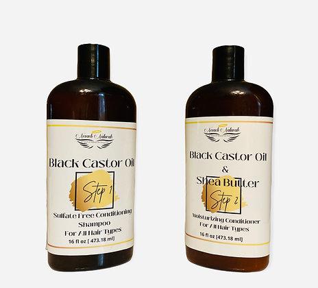 Black Castor Oil Shampoo & Conditioner Set