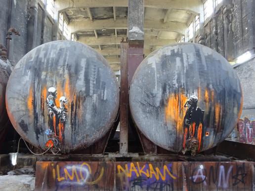 ...auch der Urban Artist und Dark Age Maestro Plotbot KEN hat sich hier verewigt...