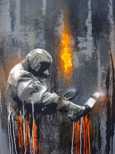...die Gasmaske des Protagonisten von Plotbot KEN ist vielleicht nicht ganz falsch – auf dem Gelände einer gestorbenen Chemiefabrik gibt es sicher noch viele hochgiftige Substanzen...