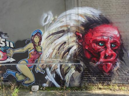 ...dann war es ein Eldorado für Künstler und ihre Graffiti...