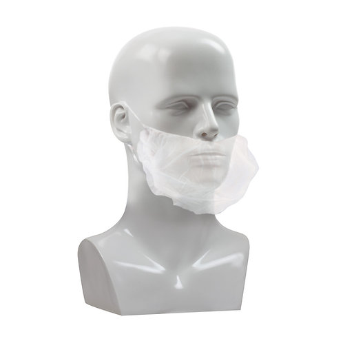 White Polypropylene Beard Guard