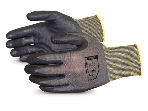 SUPERIOR  S13BFNT Dexterity® 13-gauge Black Foam-Nitrile-Dipped Work Gloves