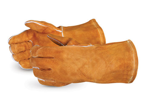 505RB Brown Split Welders Glove, Fully Lined, Kevlar Sewn