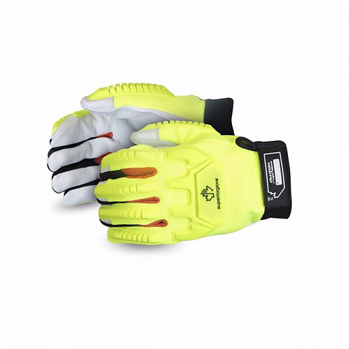 MXGCEHVB - Hi-Viz Anti-Impact Goat-Grain Mechanics Glove